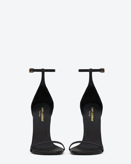 Classic saint laurent jane Sandal in Black Leather - Sandals – Shoes – Shop Women – Yves Saint Laurent – www.ysl.com