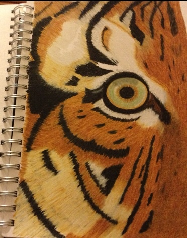 Page from my drawing art journal...Prismacolor pencils #getmessyartjournal