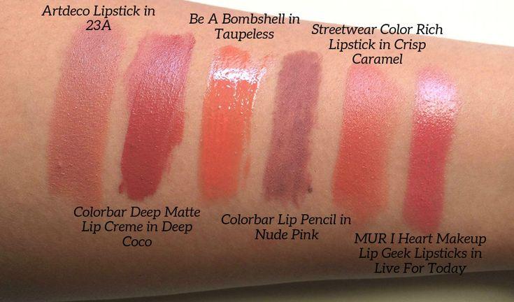 Top Nude Lipsticks Swatches | Aarushi Jain