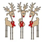 Red Ribbon Reindeer - AIDS & HIV Awareness