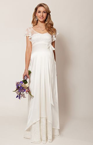 Juliette Maternity Wedding Gown (Ivory) by Tiffany Rose