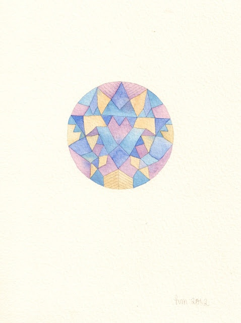geometric watercolor by Hollie Martin
