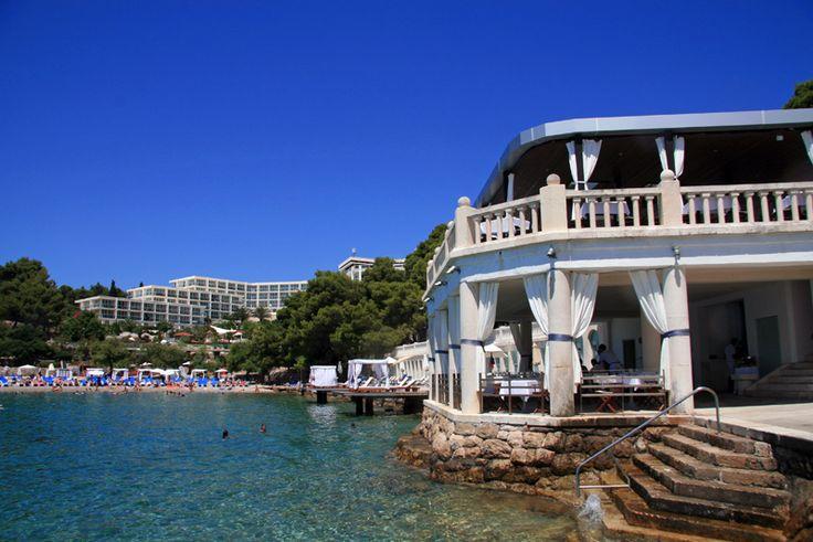 Bonj 'les bains' beach club and Amfora Hotel, Hvar, Croatia. http://www.alifelessbeige.com/article/relaxing-at-bonj-les-bains-beach-clubb-hvar/  #Hvar #Croatia #Bonjlesbains #beachclub #travel #holiday #luxurytravel #amfora