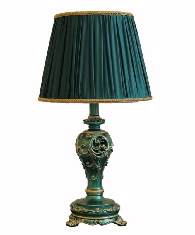 European Classical Lightweight Luxury Studio Resin Table Lamp Retro Living Room Bedside American Table Lamp Retro Table Lamps Table Lamp Retro Living Rooms