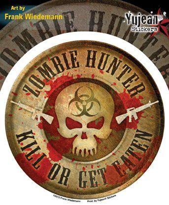 Amazon.com: Frank Wiedemann - Zombie Hunter - Sticker / Decal: Automotive