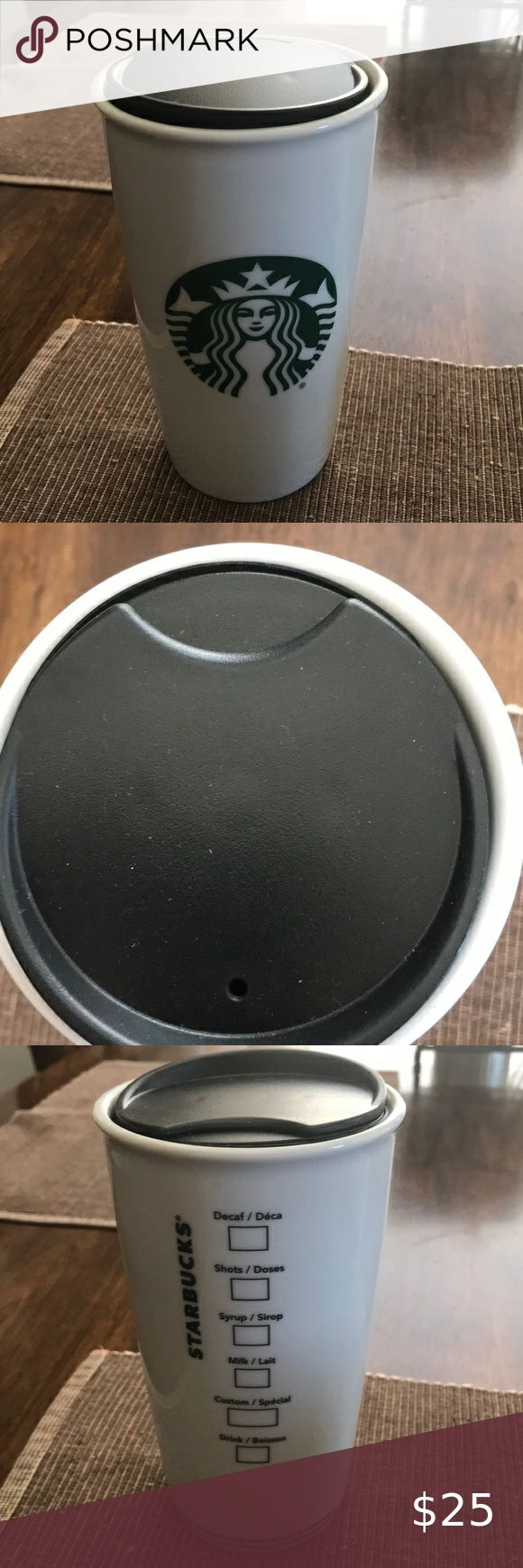 Starbucks 12oz Ceramic Traveler coffee Mug & lid in 2020