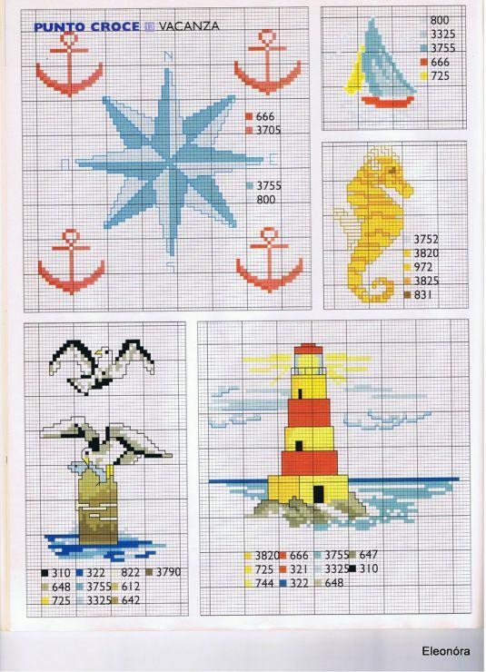 <3 cross stitch beach