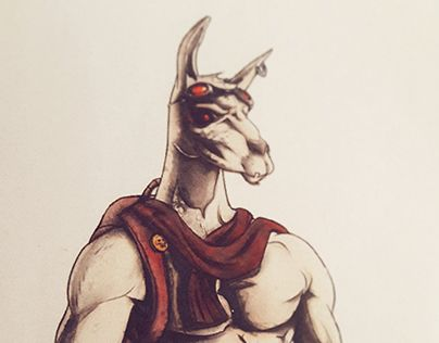 """Check out new work on my @Behance portfolio: """"Llama : Rebirth, Character Design"""" http://be.net/gallery/33752388/Llama-Rebirth-Character-Design"""