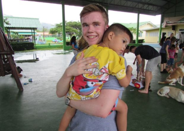 Student Jack Allison on voluntary trip to Thailand.