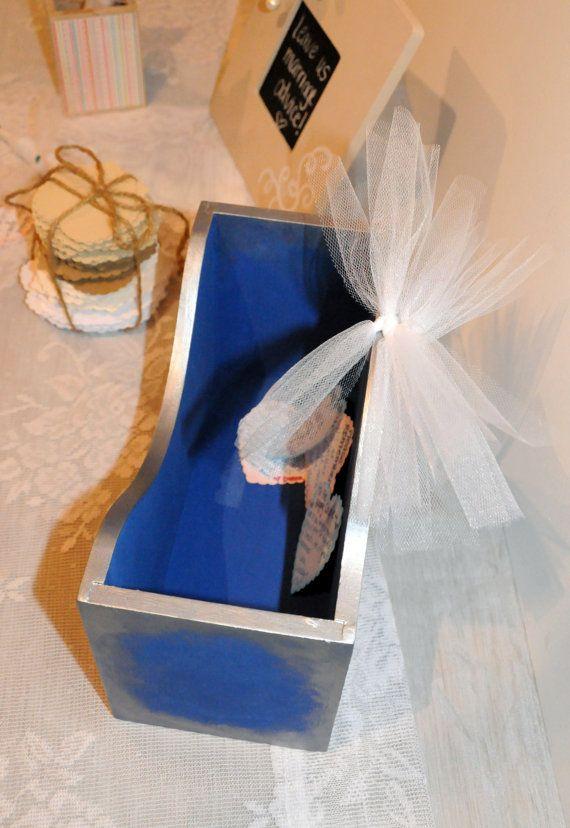 Wedding Advice Box Alternative Guest Book Box Wedding Keepsake Box by SilverBirdBoutique