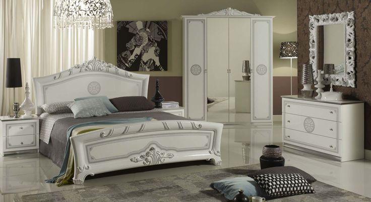 Geena White High Gloss Italian Made Bedroom Furniture