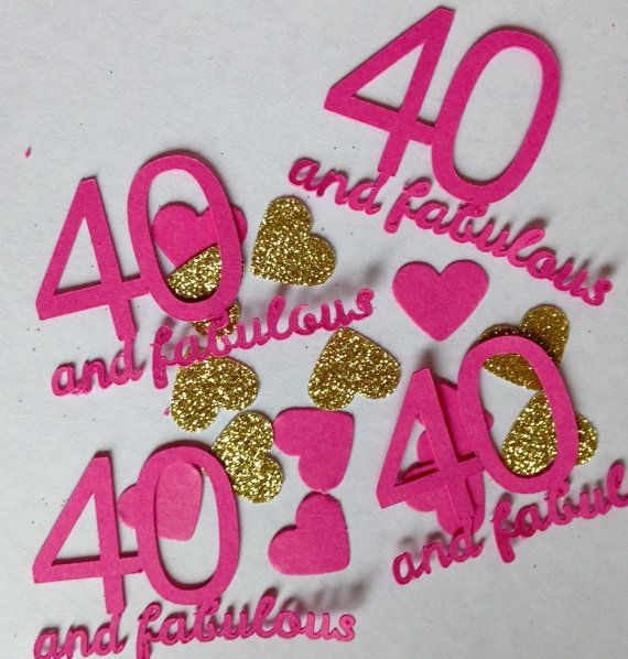 40 fabulous large table confetti 40th by for 40th birthday decoration