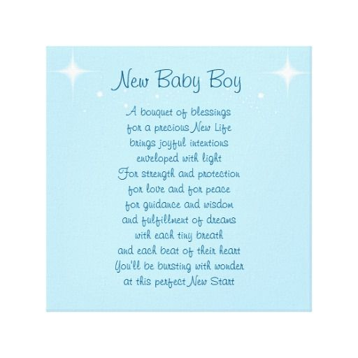 New Baby Boy Canvas Wordpassion Poem Art Canvas Canvas Canvas