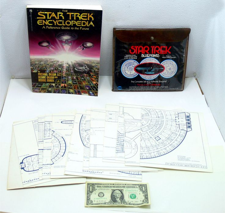 Star Trek book lot-Star Trek encyclopedia book-star trek blueprints-star trek set-starship enterprise-uss enterprise-trekkie books by BECKSRELICS on Etsy