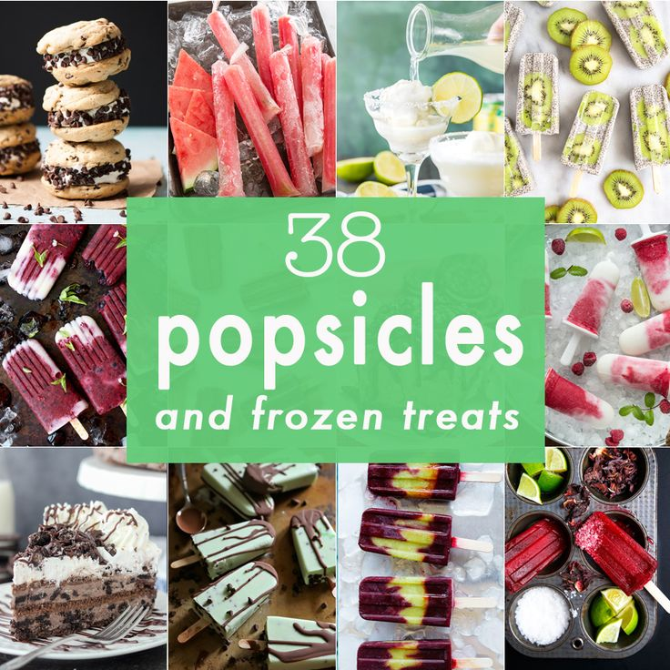 38 Popsicles and Frozen Treats! All the best popsicles in one place! Easy frozen pies, pops, ice cream, and other recipes perfect for Summer!