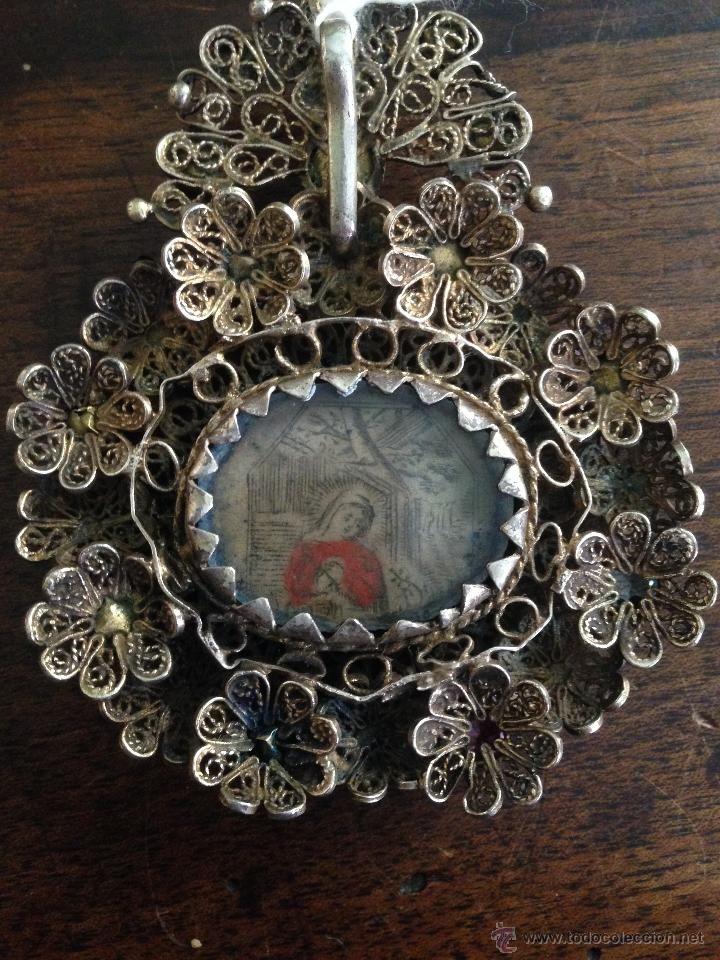 relicario de plata siglo XVII - Foto 4