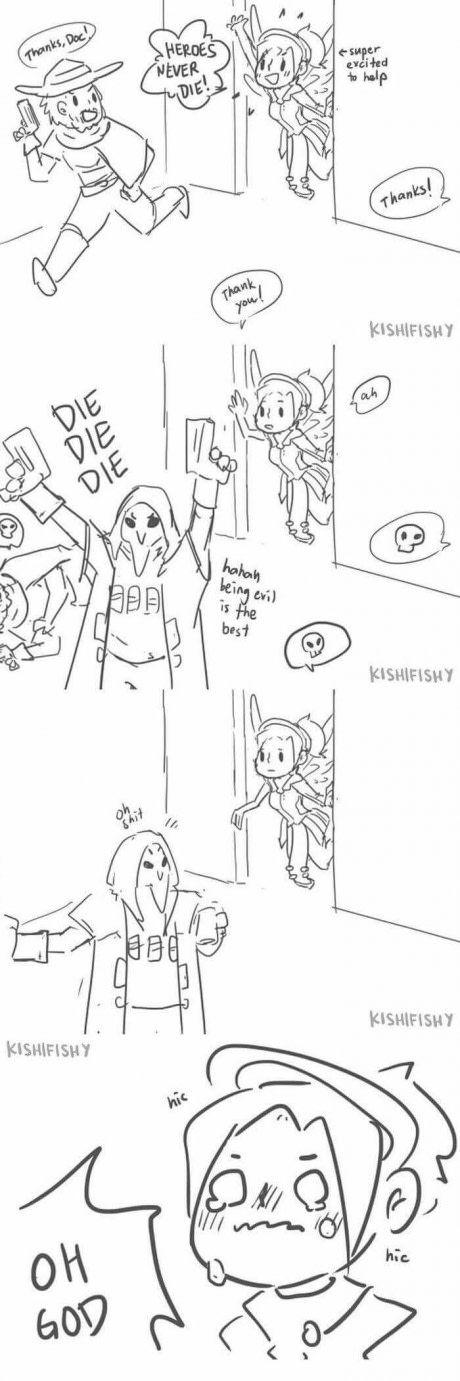 Reaper made Mercy upset :(