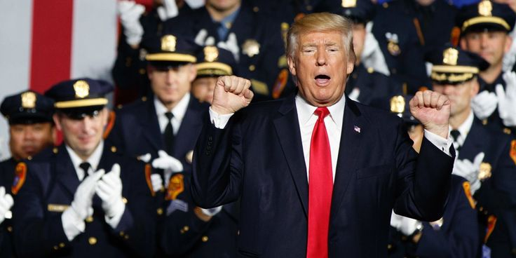 """The  NYPD commissioner denounced Trump's comments as sending """"the wrong message"""" to police and the public. The NYPD was not the only police department to speak out against Trump's remarks encouraging violence against suspects. The Suffolk County Police Department, which sent officers to the speech, tweeted afterwards that it maintains strict regulations around the handling of prisoners."""