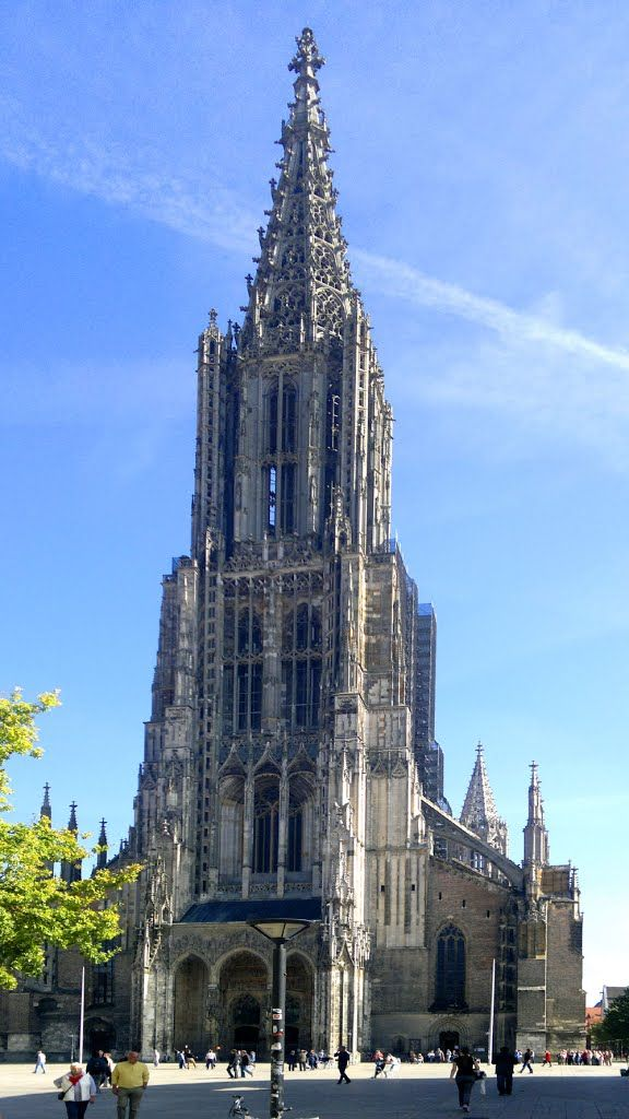 Ulm Minster (German: Ulmer Münster) is a Lutheran church and former Roman Catholic church located in Ulm, Germany. Although sometimes referred to as Ulm Cathedral because of its great size, the church is not a cathedral as it has never been the seat of a bishop.