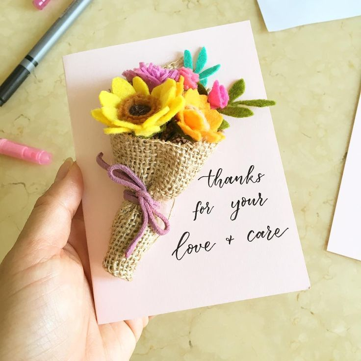 Mini bouquet with personalised handwritten note . Handmade with love!