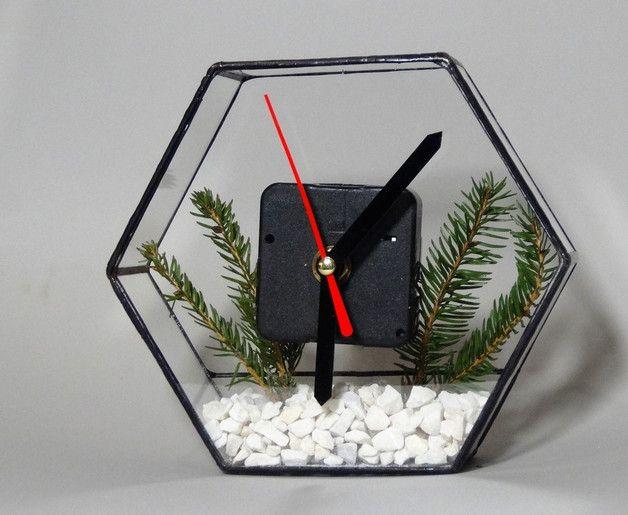 Zegar Witrażowy - GlassWoodMe - Zegary