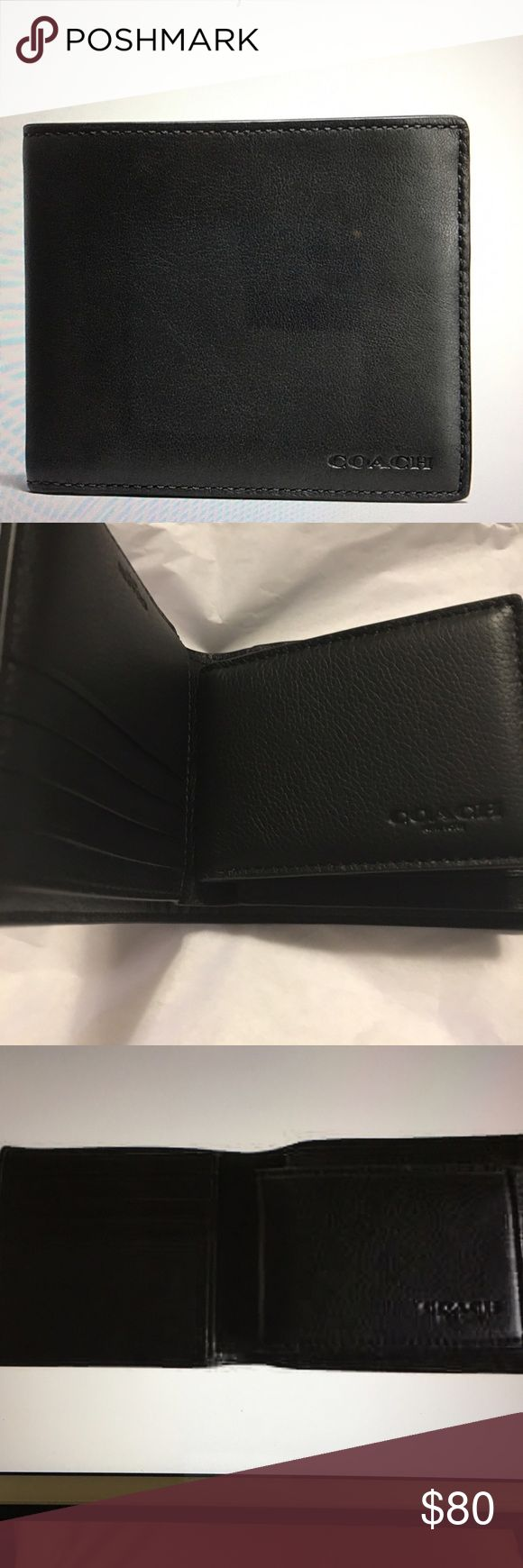 NWT compact ID Wallet NWT compact ID Wallet in Sport Calf Leather.  Eight credit card slots. Full length bill compartments. Removable insert with ID window and two credit card slots Coach Bags Wallets