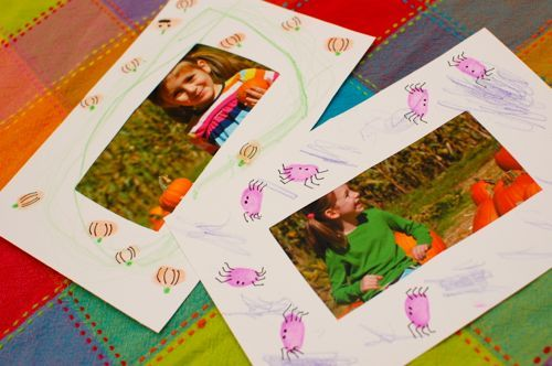 fall picture frames....  guess what pictures I'm taking when we visit the pumpkin patch?