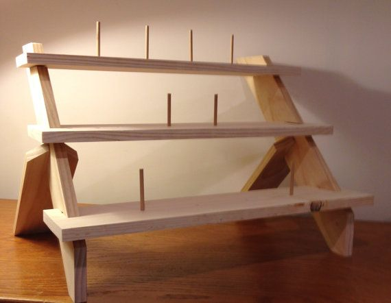 Three level display shelf ladder shelf collapsible for How to make display shelves