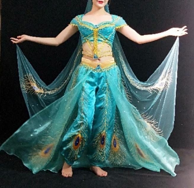 Princess Jasmine Costume Jasmine Dress Aladdin 2019 Live Action Outfits Adults Jasmine Costume Princess Jasmine Costume Jasmine Dress
