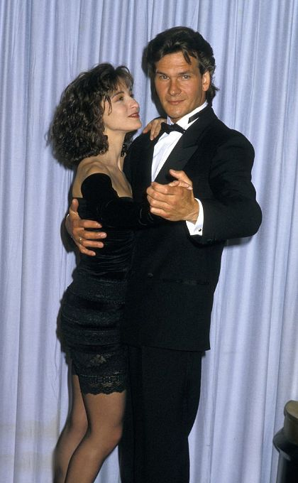 Jennifer Grey and Patrick Swayze, loved Dirty Dancing !!!!! Patrick died way too young , it makes me so sad .
