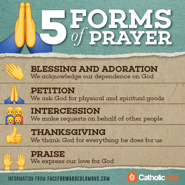 Catholic-Link's Library - Infographic: 5 forms of prayer ...