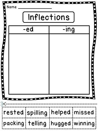 Printables Inflectional Endings Worksheet 1000 ideas about inflectional endings on pinterest root words long vowels and phonics