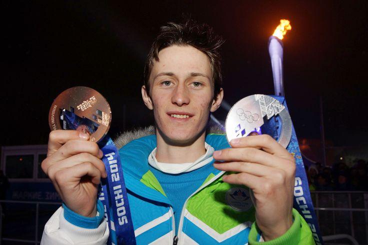 Peter Prevc, Slovenia, bronze & silver medal <3 #Sochi2014 (photo: Aleš Fevžer)