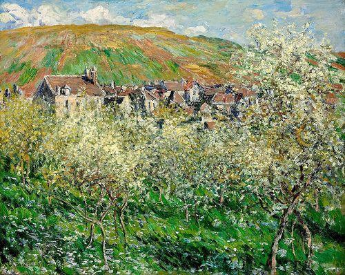 Les Pruniers en fleurs à Vétheuil (C Monet - W 520)   Flickr