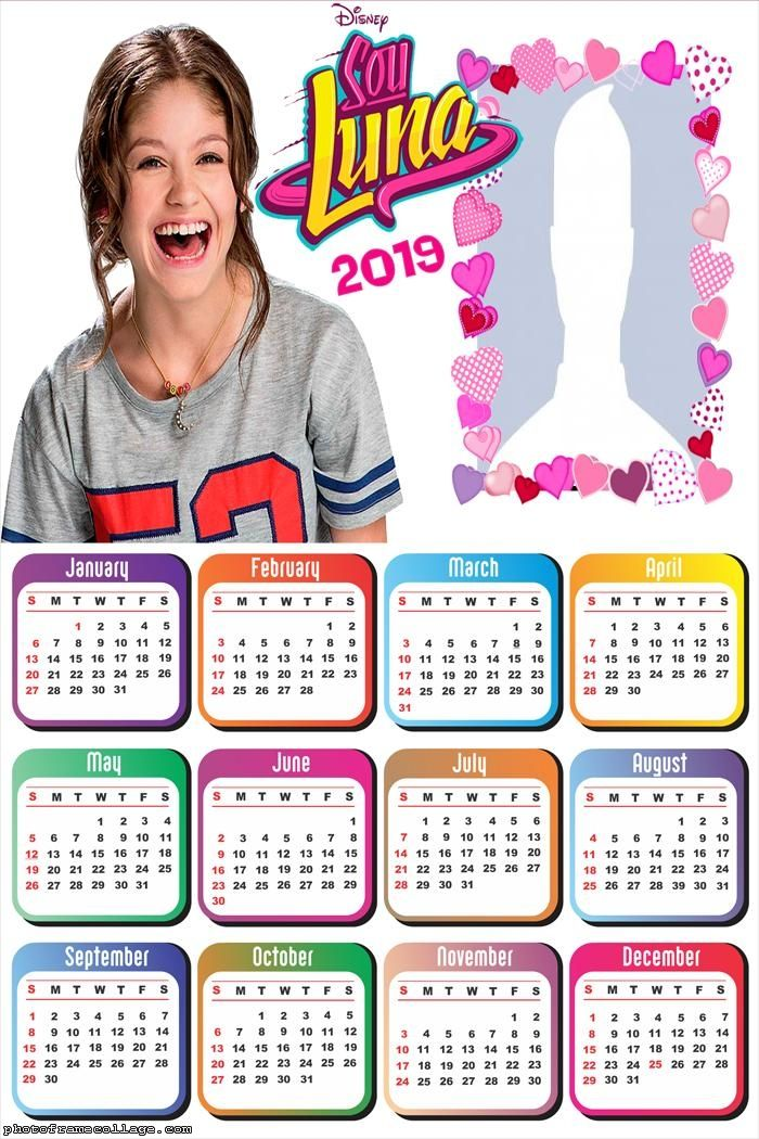 Soy Luna Calendar 2019 Frame Photo Montage Free Online | Calendar