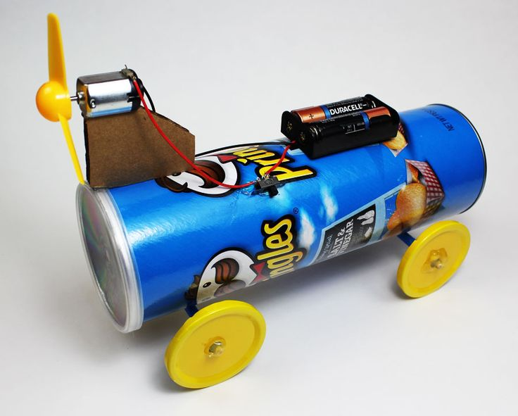 Battery powered propeller car kids science fair projects