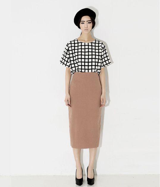 Slim Line Long Skirt | Korean Fashionista