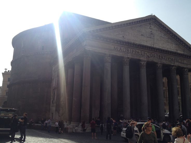 Pantheon is a former Roman temple, now a church in Rome. An earlier temple was commissioned by Marcus Agrippa during the reign of Augustus ( 27 BC - 14 AD ). The present building was completed by the emperor Hadrian about AD 126.