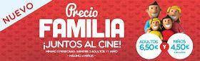 Ofertas de cine para familias con hasta cuatro niños. Desde 4,50 € http://www.yelmocines.es/promociones/nuevo-precio-familia