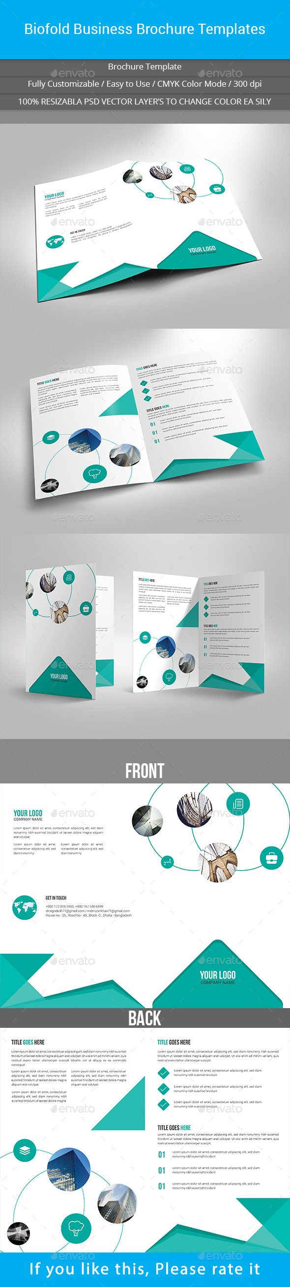 Biofold Business Brochure Templates #brochure Download: graphicriver.net/...