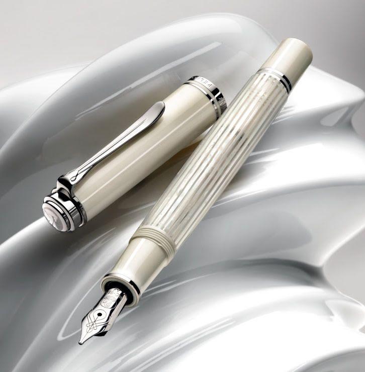 Pelikan 605 White Transparent fountain pen
