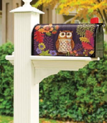 Floral Owl magnetic mailbox cover adds instant curb appeal