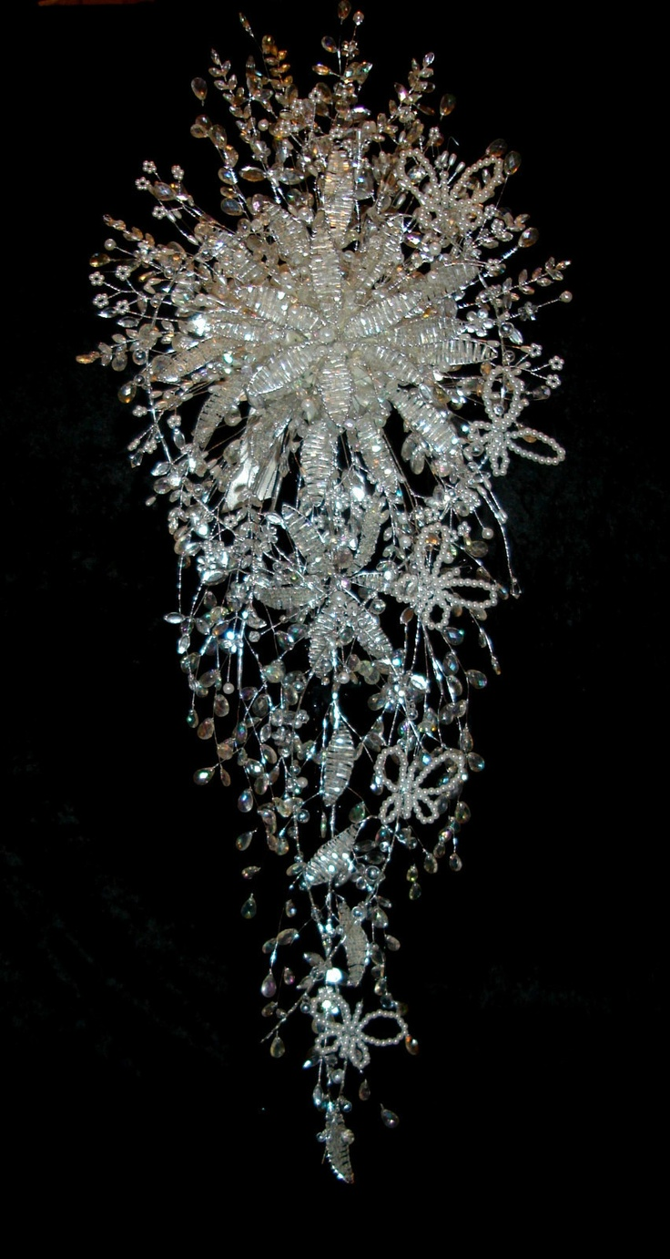 WHITE & SILVER CRYSTAL BOUQUET