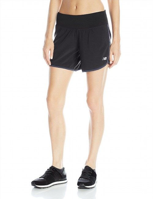 "29.00$  Watch now - http://viswi.justgood.pw/vig/item.php?t=k6tk2w45469 - New Balance Womens Impact 5"" 2-in-1 Shorts Exercise Shorts Black Size Large NB Brand New with Tags!"