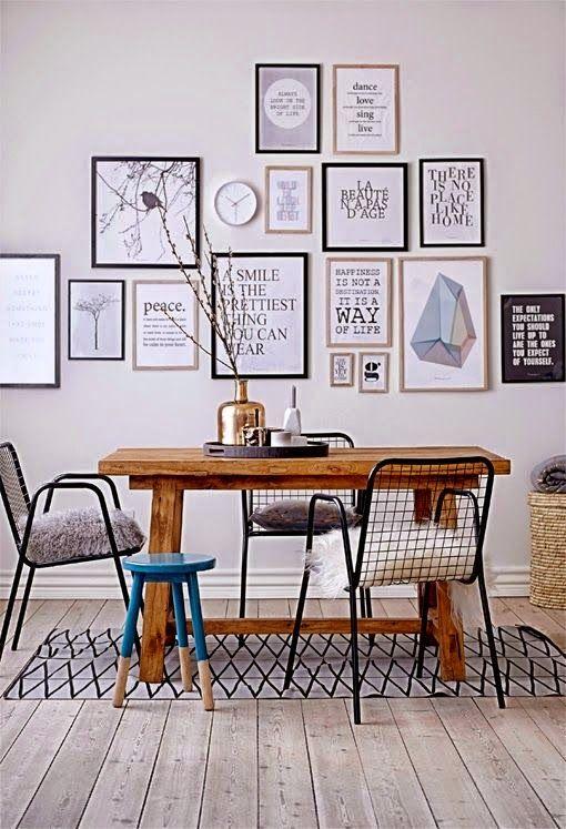 Casinha colorida: Para quem tem pouco espaço: mesa de jantar para 4