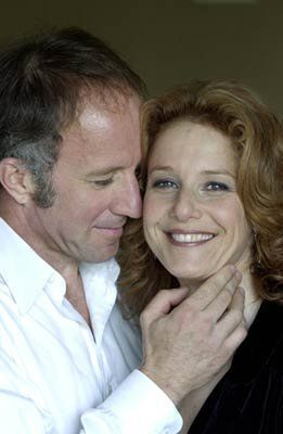 Debra Winger and husband Arliss Howard.  They met on set of Wilder Napalm.
