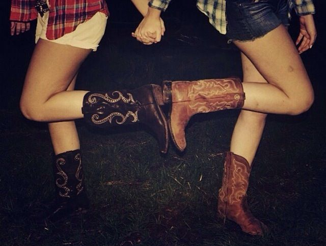 "Love this but my ""sister"" isn't country like me so converse and boots maybe"