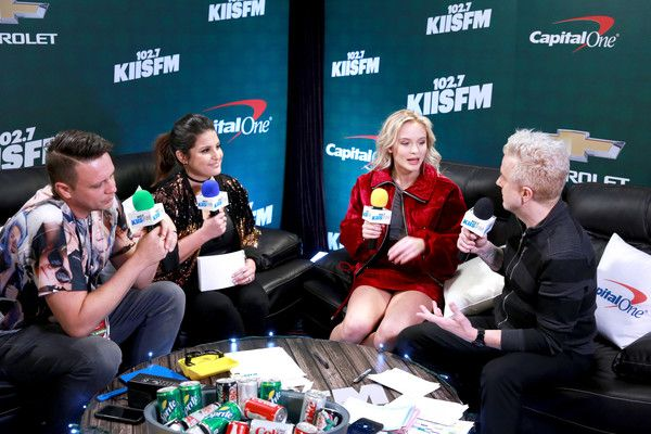 Zara Larsson Photos Photos - (L-R) Radio personality Jesse Lozano, radio personality Sisanie, recording artist Zara Larsson, and radio personality JoJo Wright attend 102.7 KIIS FM's Jingle Ball 2016 presented by Capital One at Staples Center on December 2, 2016 in Los Angeles, California. - 102.7 KIIS FM's Jingle Ball - Press Room