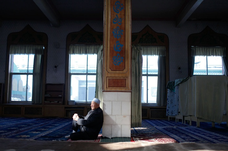 The men of Nanguan Mosque, a religious centre for the Hui people of northern China