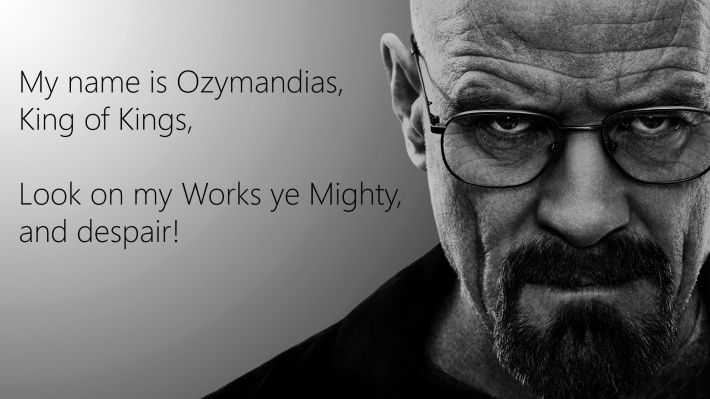 Breaking Bad wallpaper with the Ozymandias poem